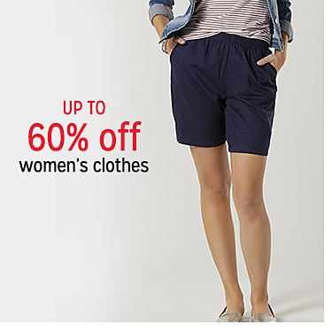 up to 60% off women's clothes