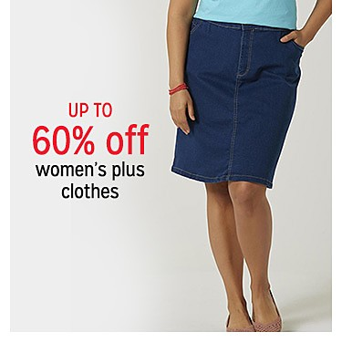 up to 60% off women's plus clothes