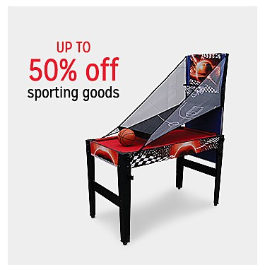 Up to 50% off sporting goods