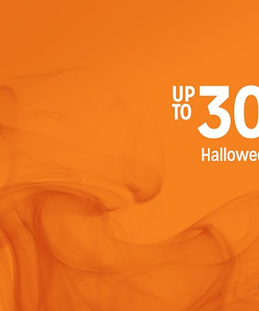 up to 30% off Halloween costumes & decor