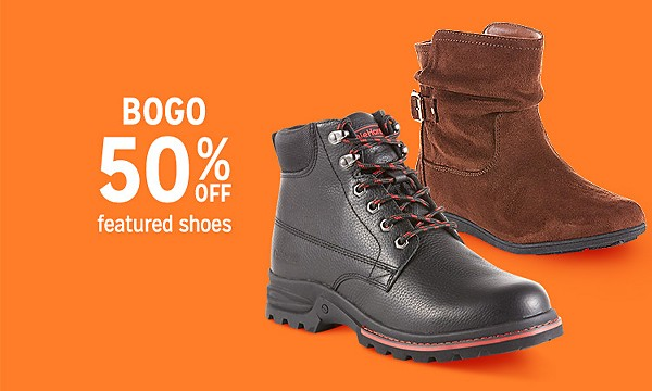 BOGO 50% off shoes