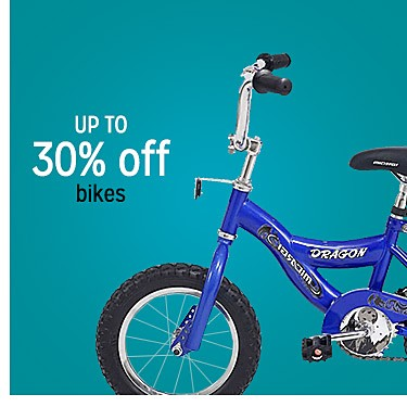 Up to 30% off bikes
