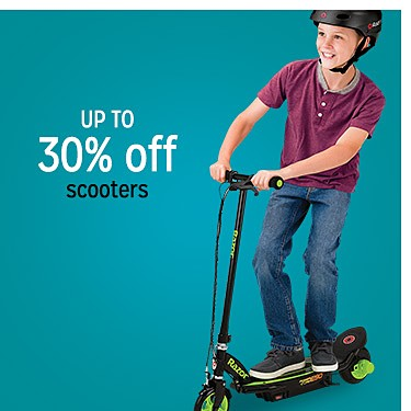 up to 30% off scooters