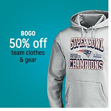 BOGO 50% off team clothing & gear