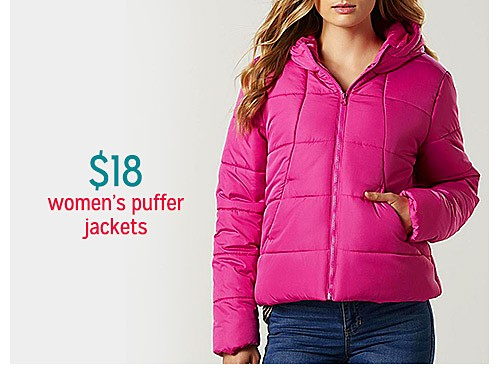 $18 Me Jane Women's Hooded Puffer Coat