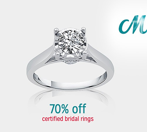 70% Off Certified Bridal Rings