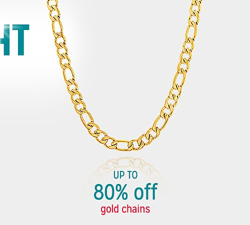 Up to 80% off Gold chains