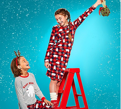 Up to 50% off kids' pajamas