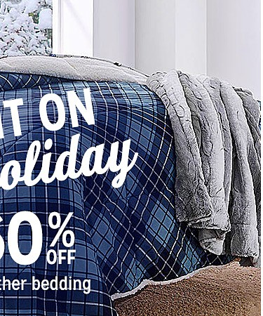 Up to 60% off cold weather bedding