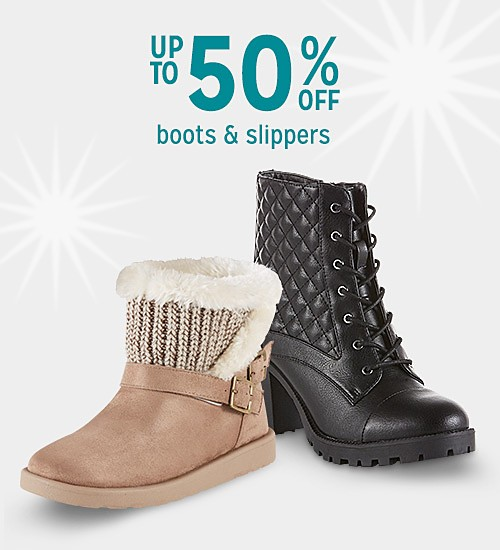 Up to 50% off boots for her