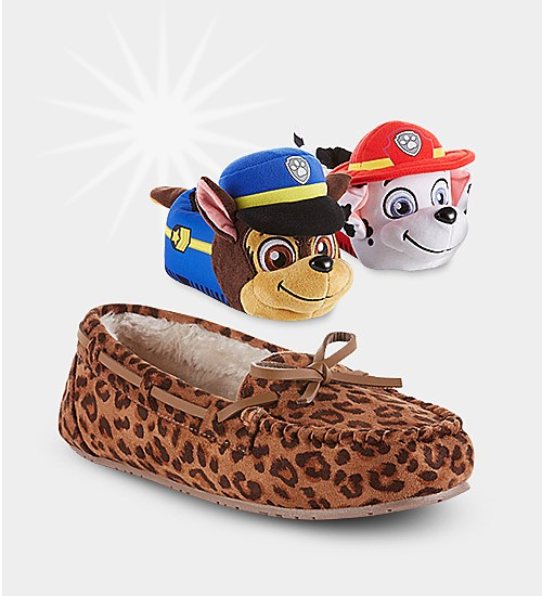 Up to 50% off slippers for the family