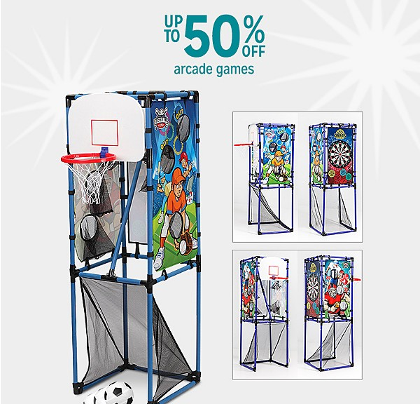 Up to 50% off arcade games