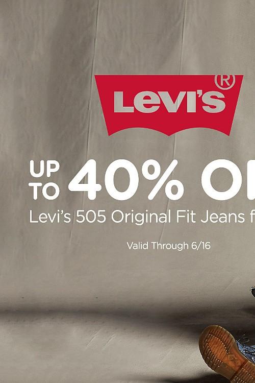 Up to 40% off | Levi's 505 Original fit jeans for men. (valid through 6/16). shop now
