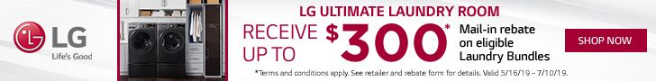 2019 LG Ultimate Laundry Room Rebate Offer