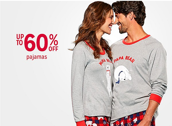 Up to 60% off Pajamas for the family