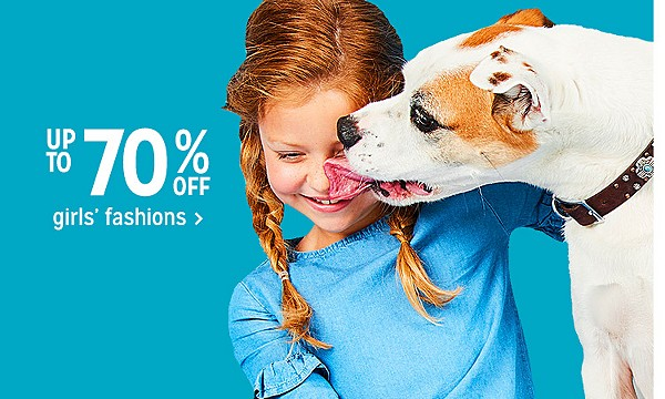 Up to 70% off girls' fashion