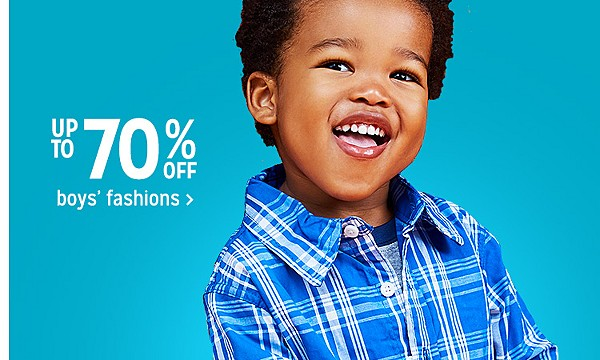 Up to 70% off boys' fashions