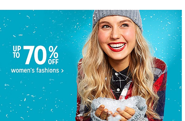Up to 70% off women's fashions