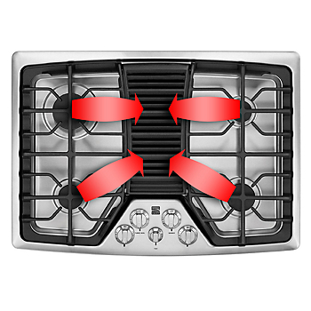 What is downdraft cooktop ventilation sears for What is a downdraft range