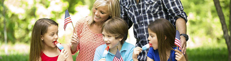 Family enjoying the Fourth of July