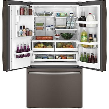 Ge 17 5 Cu Ft Top Freezer Refrigerator Slate