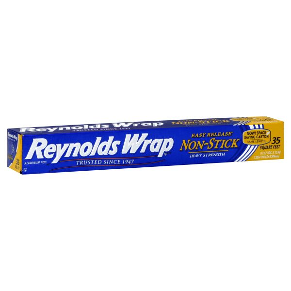 Reynolds Reynolds Wrap Aluminum Foil, Non-Stick, Heavy Duty, 35 Sq Ft, 1 roll
