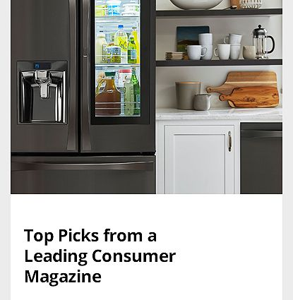 Our Top-Rated Appliances from a Leading Consumer Magazine