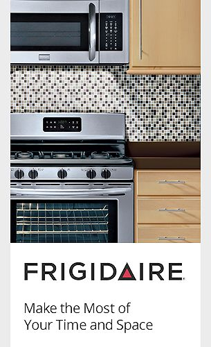 Frigidaire helps you make the most of your time and space