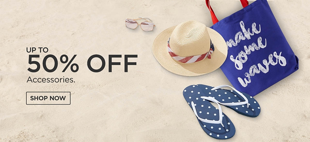 Up to 50% off Accessories. Shop Now