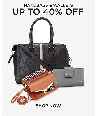 Up to 40% off handbags & wallets. Shop Now