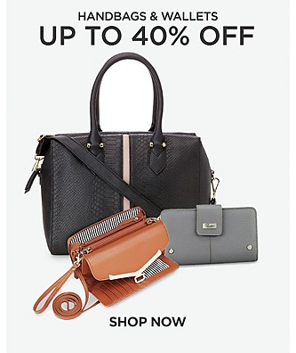 Up to 40% off handbags & wallets