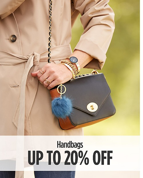 Up to 20% off Handbags. Shop now