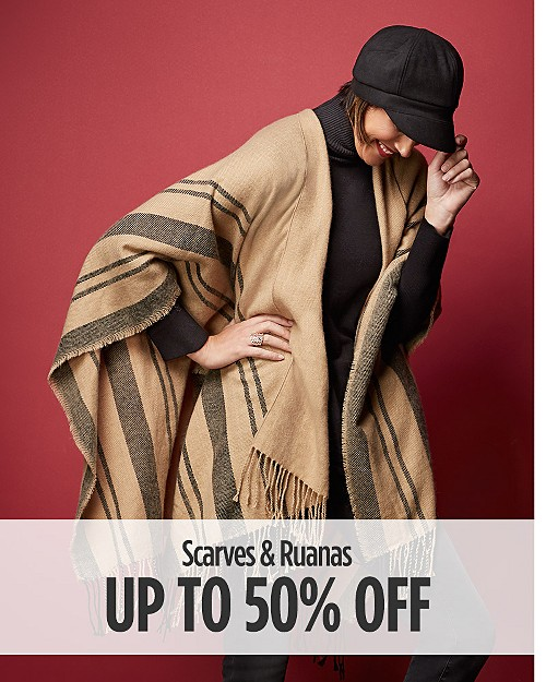 Up to 50% Off Scarves & Ruanas