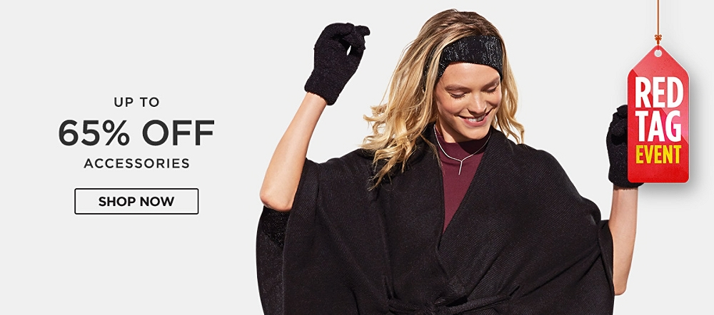Up to 65% off accessories. Shop now