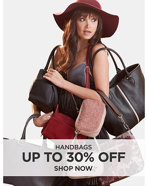 Up to 30% off handbags. Shop now