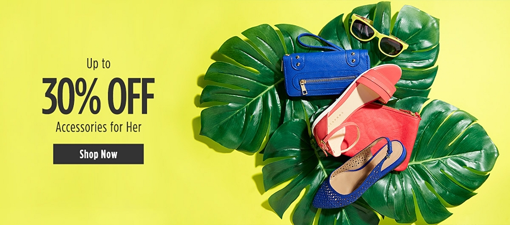 Up to 30% off Accessories for Her