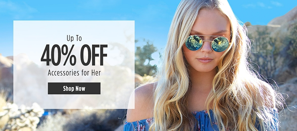 Up to 40% off Accessories for her. Shop now