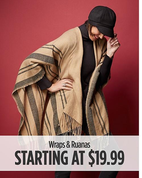 Women's Wraps & Ruanas Starting at $19.99
