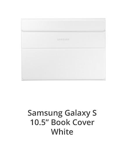 "Samsung Galaxy S 10.5"" Book Cover White"