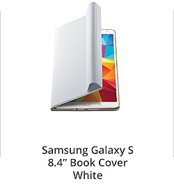 "Samsung Galaxy S 8.4"" Book Cover White"