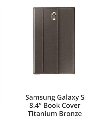 "Samsung Galaxy S 8.4"" Book Cover Titanium Bronze"
