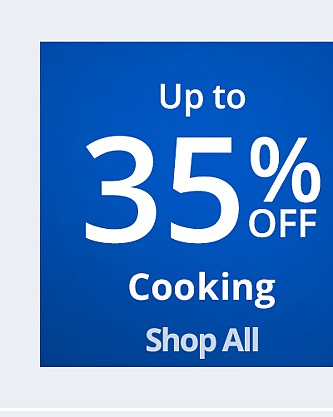 Up to 35% off Cooking