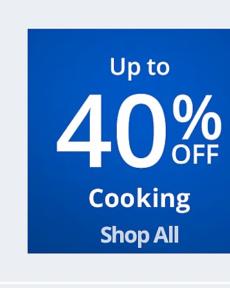 Up to 40% off Cooking