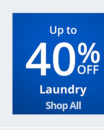 Up to 40% off Laundry