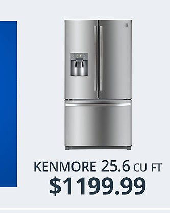 Kenmore 25.6 cu ft Refrigerator&#x3b; $1199.99