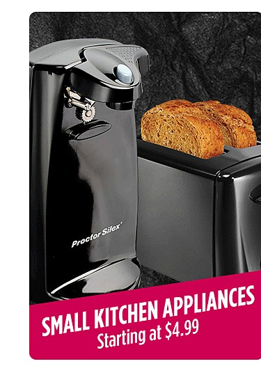 Small kitchen appliances starting at $4.99