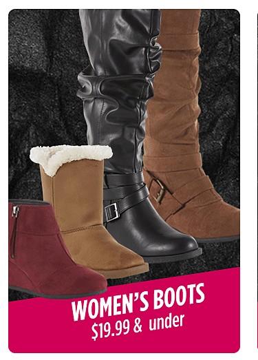 Women's boots $19.99 & under
