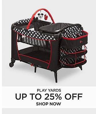 Up to 25% off Play yards