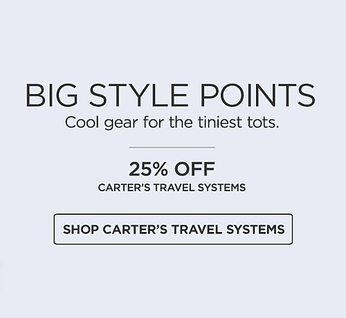 Carter's travel systems 25% off