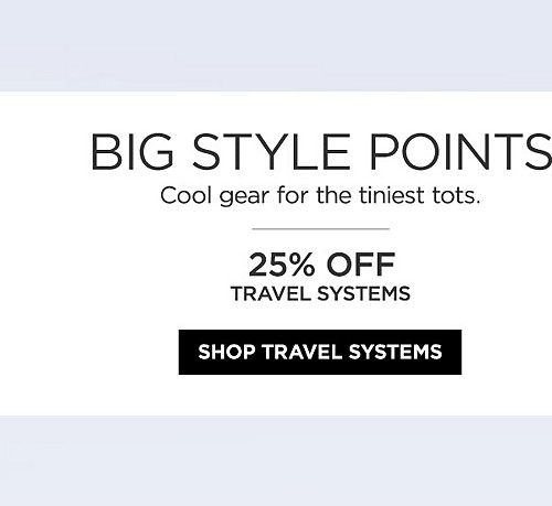 25% off travel systems